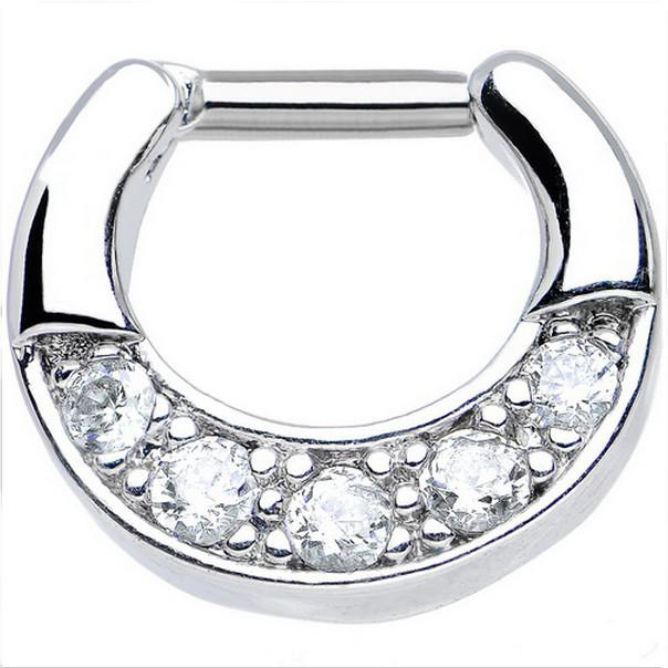 Septum Clicker with CZ Inlay