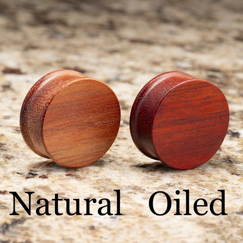 Bloodwood Double Flare Plugs