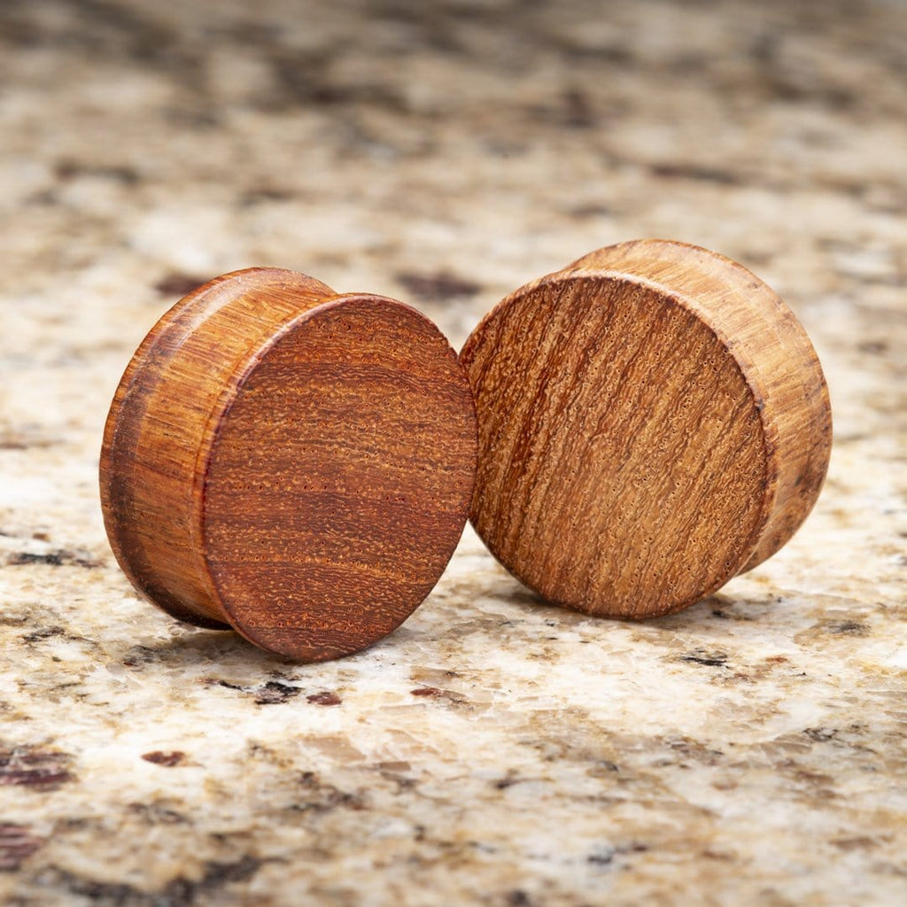 African Padauk Wood Double Flare Plugs