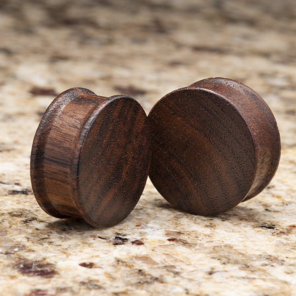 Black Walnut Wood Double Flare Plugs