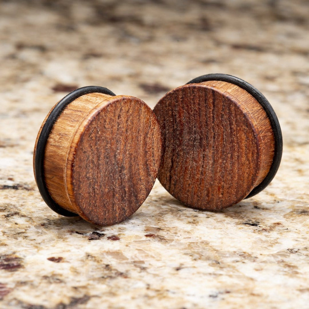 African Padauk Wood Single Flare Plugs