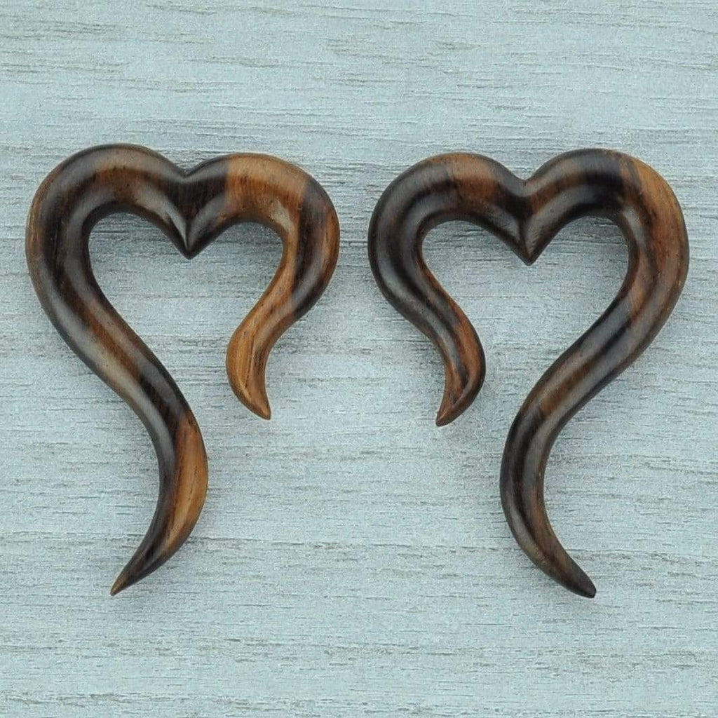 Heart Shaped Narra Wood Hangers