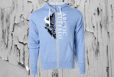 Blue Arctic Buffalo Unisex Hooded Sweatshirt
