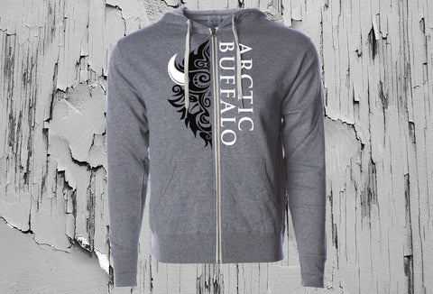 Gray Arctic Buffalo Unisex Hooded Sweatshirt