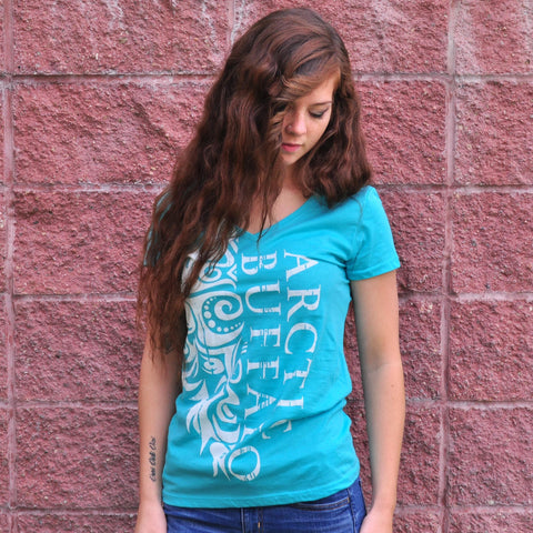 Blue Arctic Buffalo Women's T-Shirt