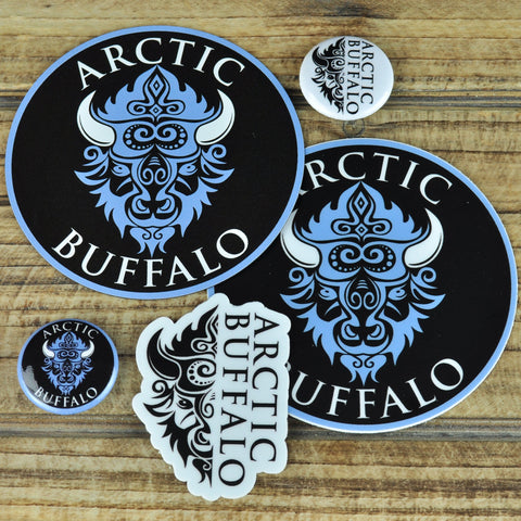 Arctic Buffalo Sticker, Button, and Magnet Bundle