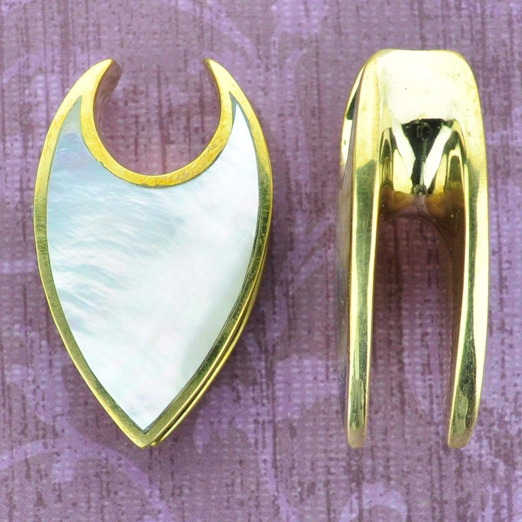 2 Sided Shell Brass Ear Weights Hangers