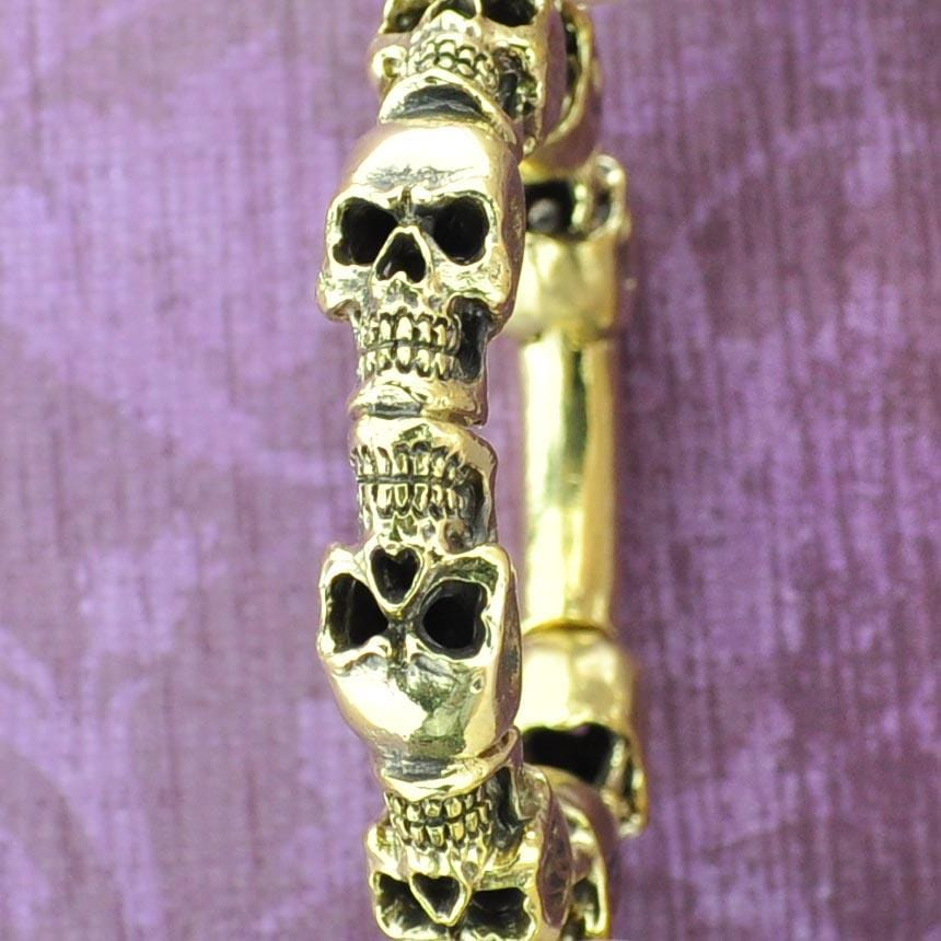 Ring of Skulls Hinged Brass Hangers