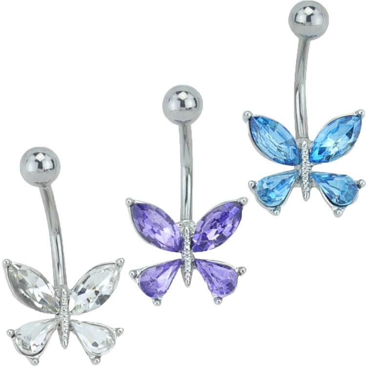 Butterfly CZ Belly Ring *Discontinued*