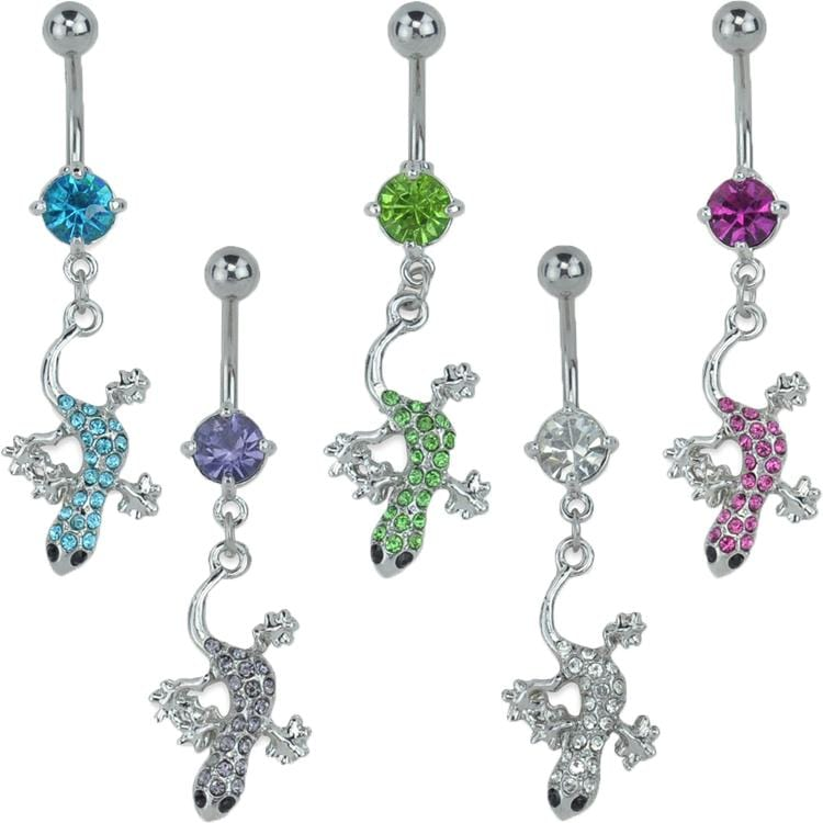 Gecko CZ Belly Ring *Discontinued*