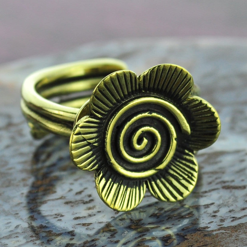 Flower Brass Ring