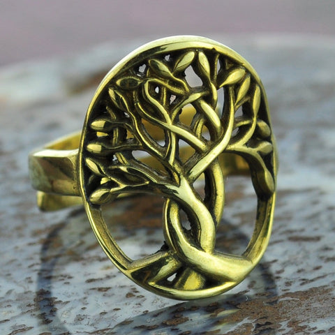 Tree of Life Brass Ring
