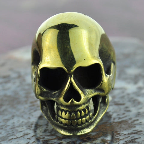 Skull Brass Ring