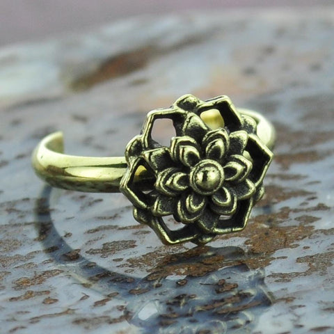 Mandala Brass Toe Ring