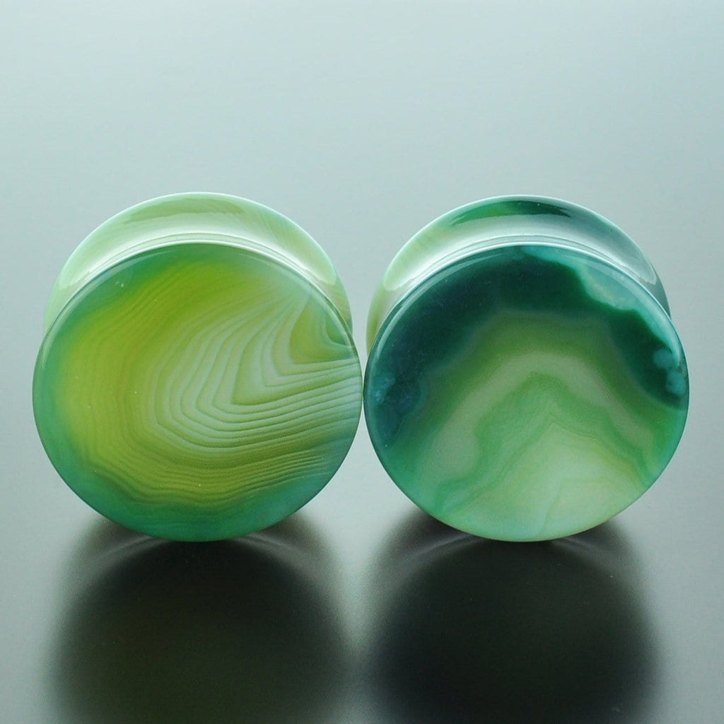 Green Banded Agate #GGB-028-20-C (28mm)
