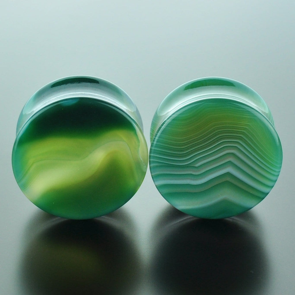 Green Banded Agate #GGB-028-22-C (28mm)