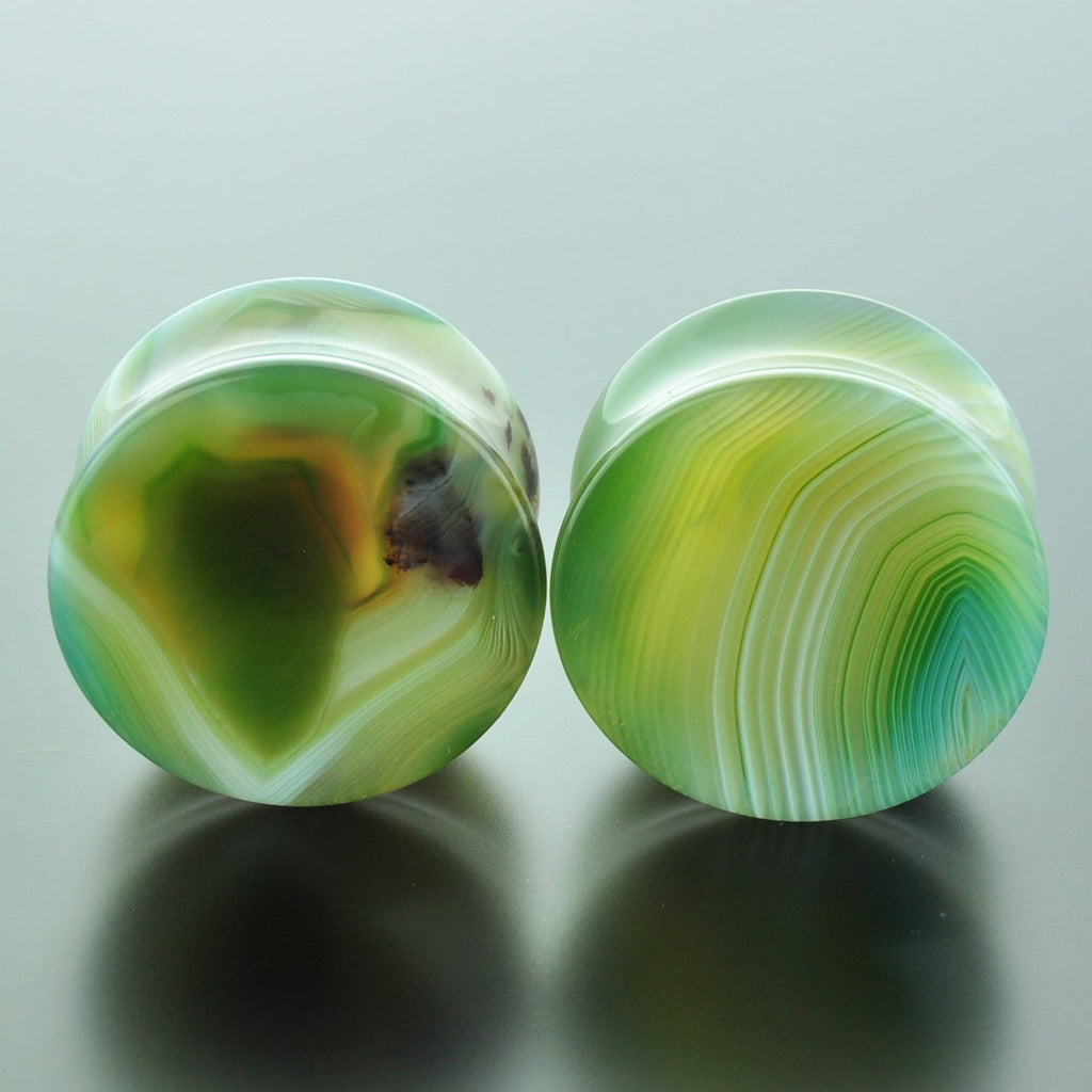 Green Banded Agate #GGB-028-30-C (28mm)