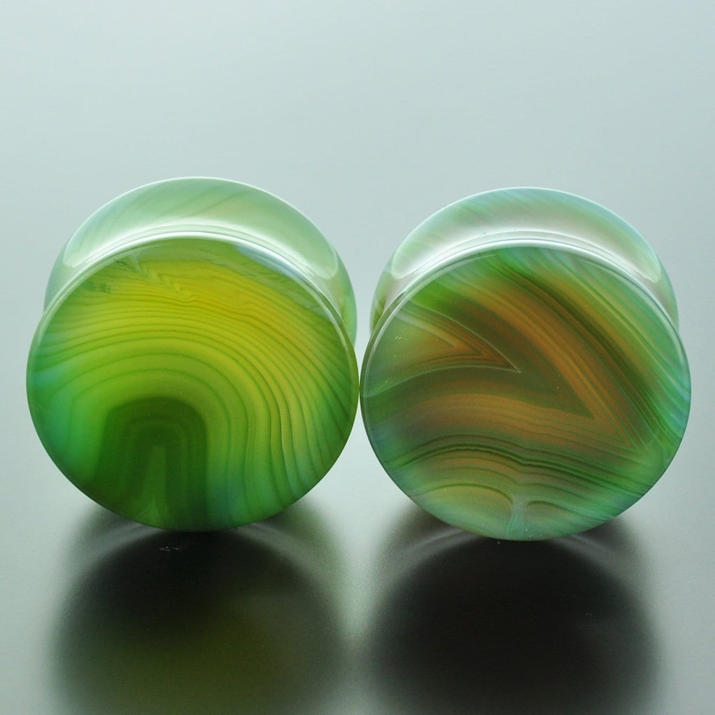 Green Banded Agate #GGB-028-35-C (28mm)