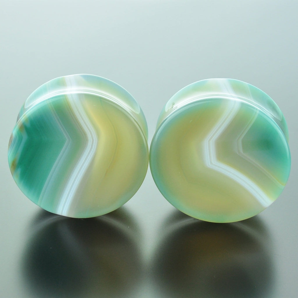 Green Banded Agate #GGB-035-13-C (35mm)