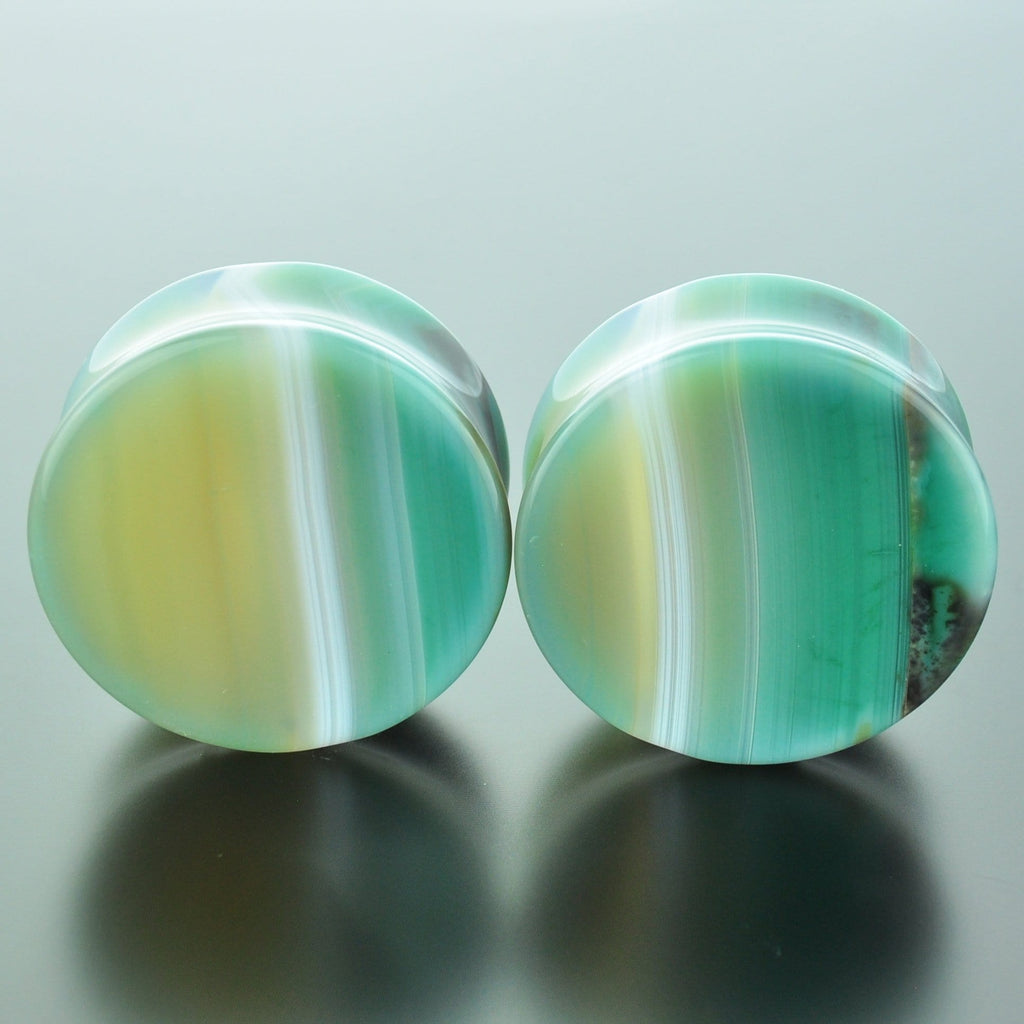 Green Banded Agate #GGB-035-14-C (35mm)