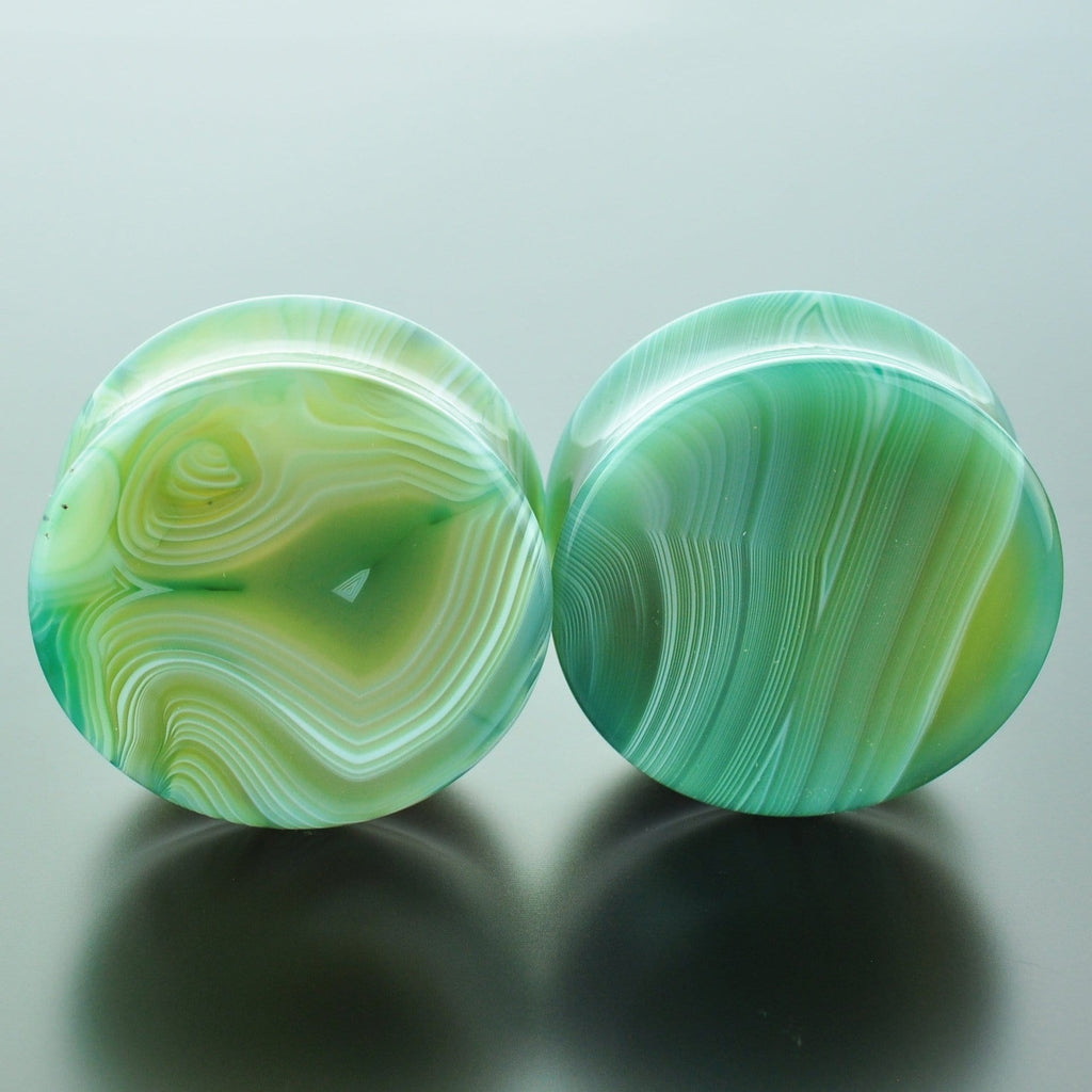 Green Banded Agate #GGB-035-2-C (35mm)