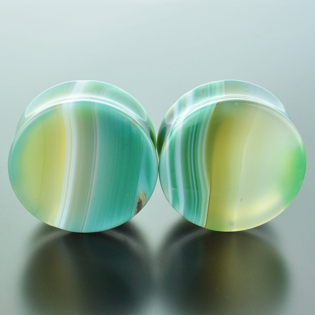 Green Banded Agate #GGB-035-21-C (35mm)