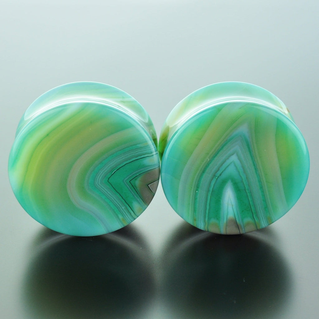 Green Banded Agate #GGB-035-22-C (35mm)