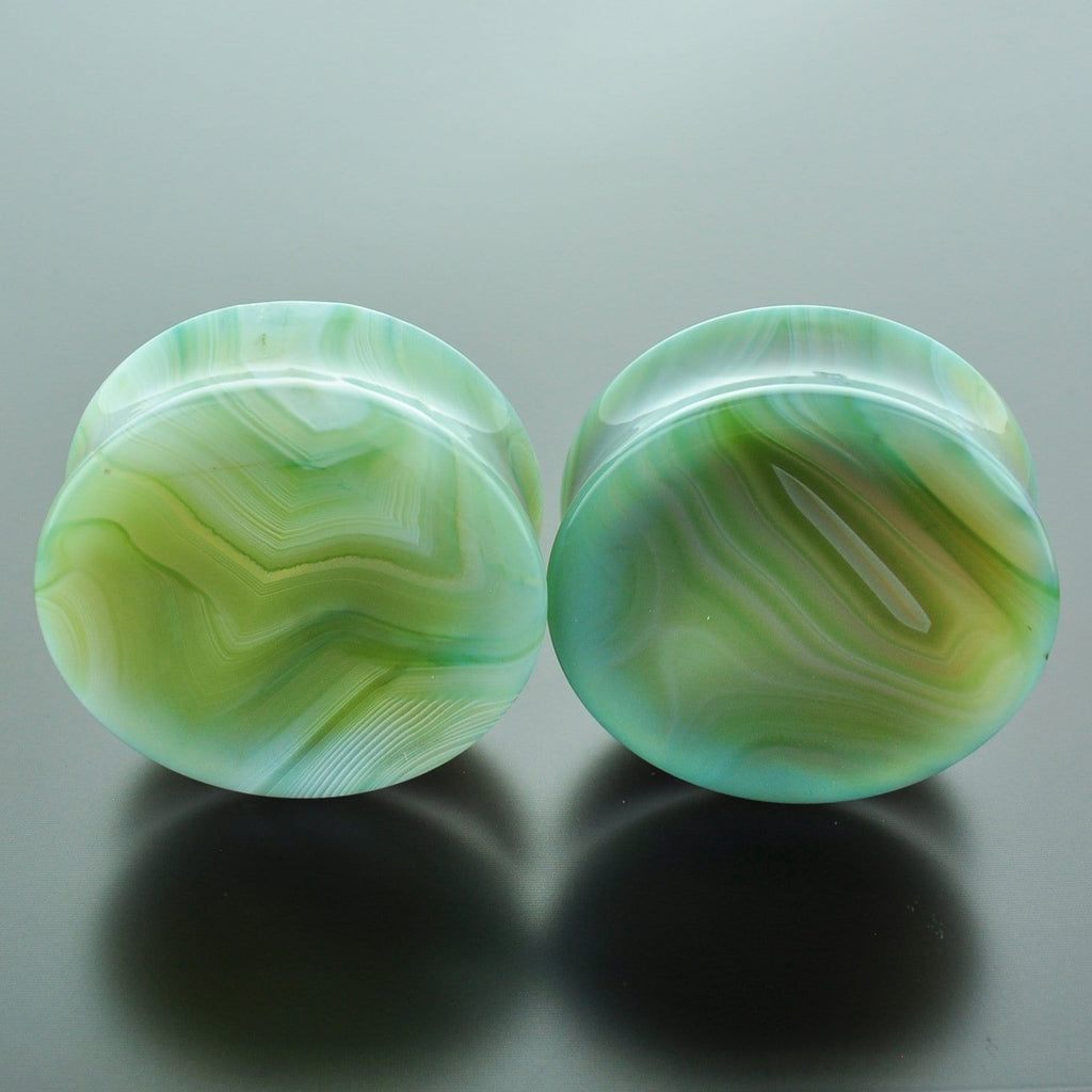 Green Banded Agate #GGB-040-12-C (40mm)