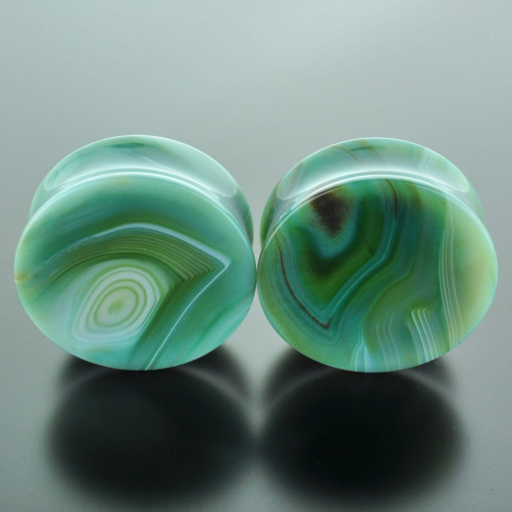 Green Banded Agate #GGB-040-14-C (40mm)