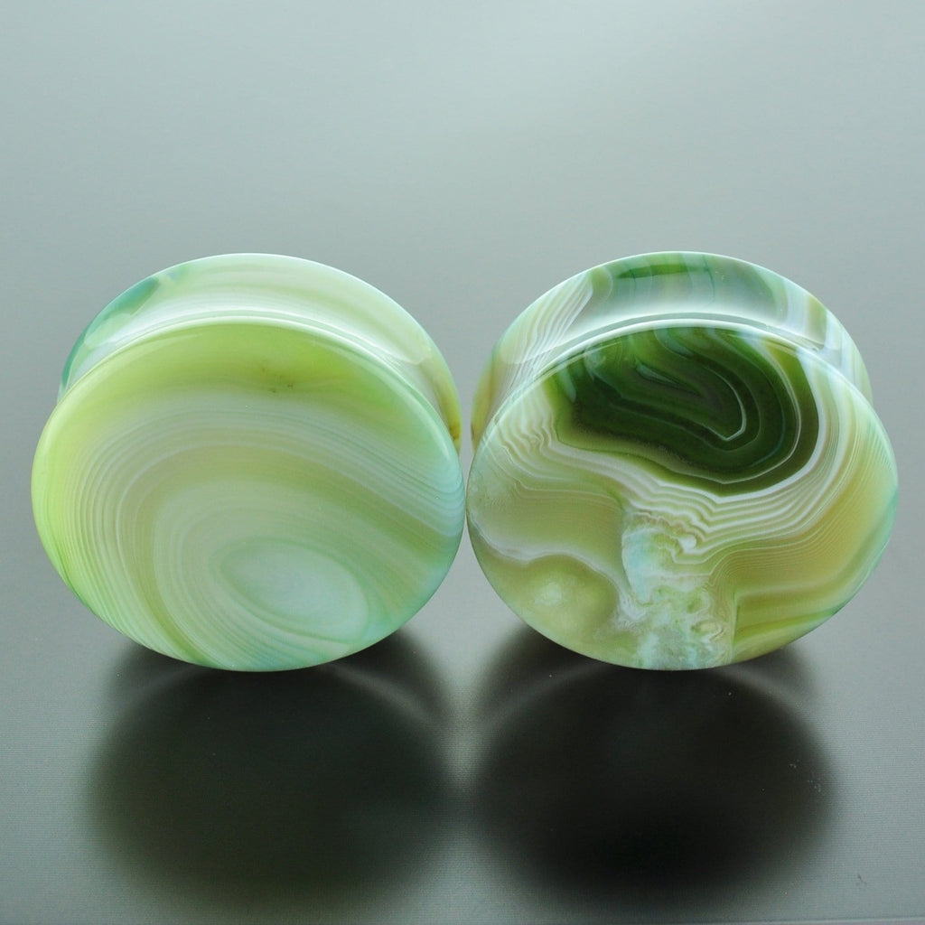 Green Banded Agate #GGB-040-7-C (40mm)