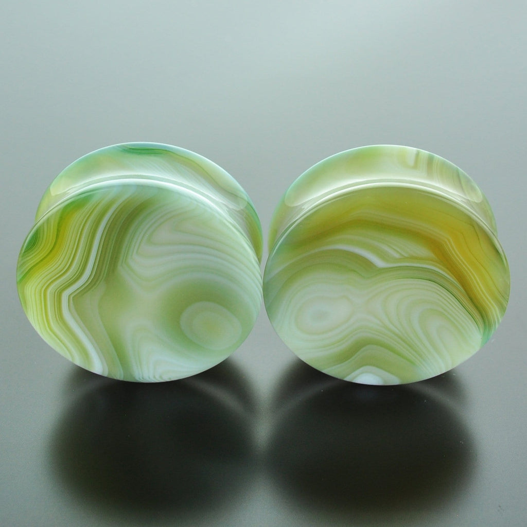 Green Banded Agate #GGB-040-9-C (40mm)