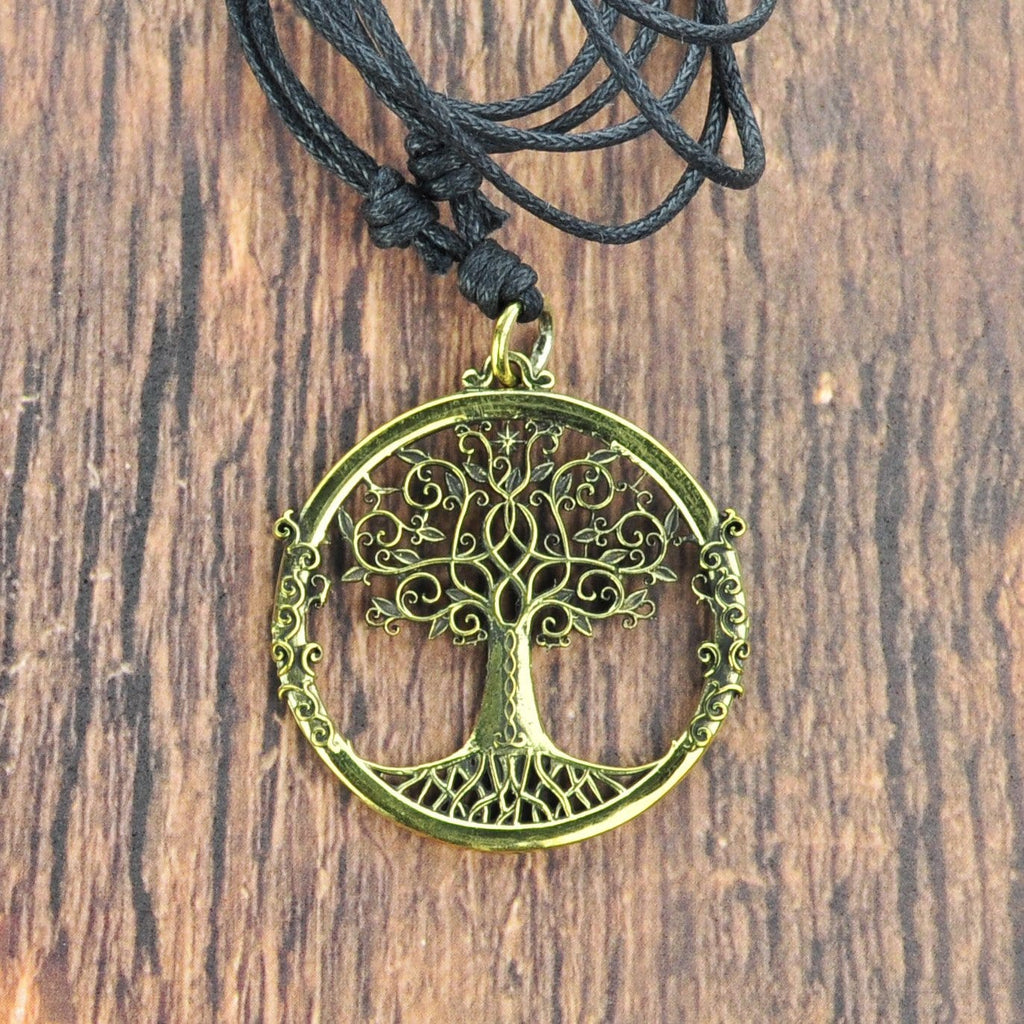 Tree of Life Brass Necklace