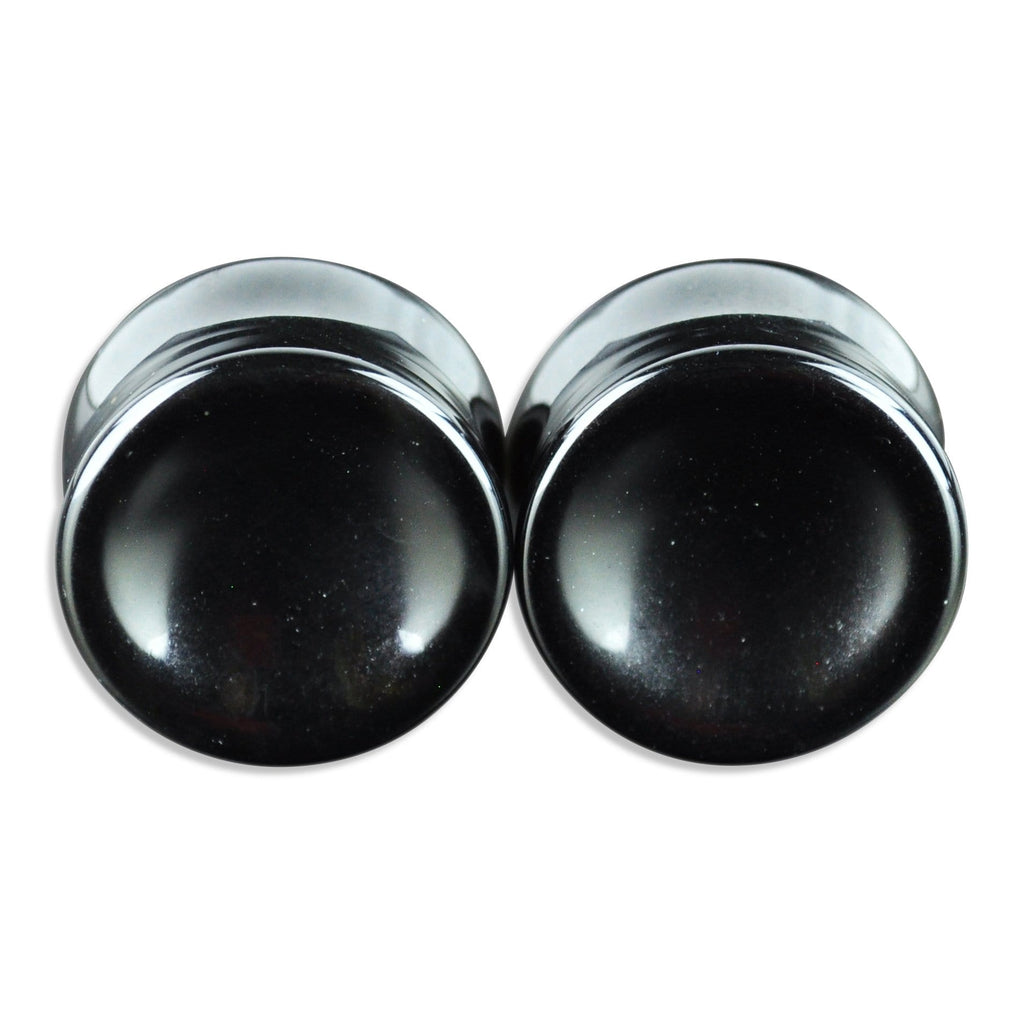 Concave Onyx Plugs - 44mm (Small flares) *Clearance*