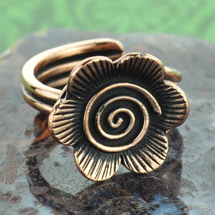 Flower Copper Ring