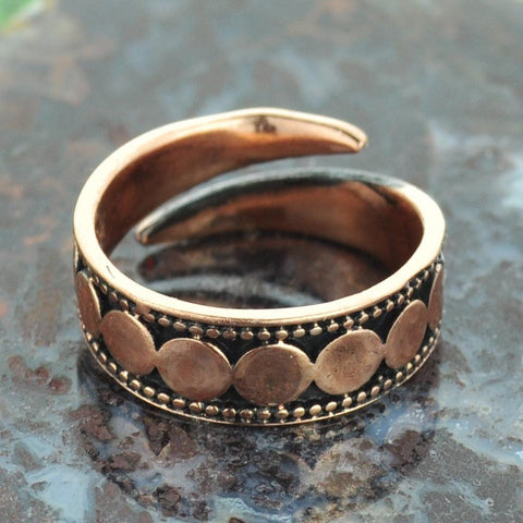 Circles Copper Ring