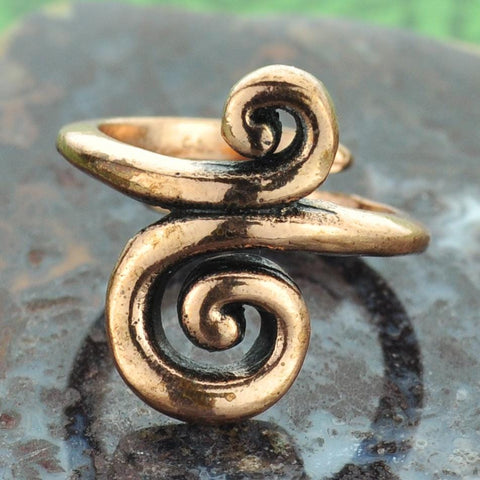 Swirl Copper Ring