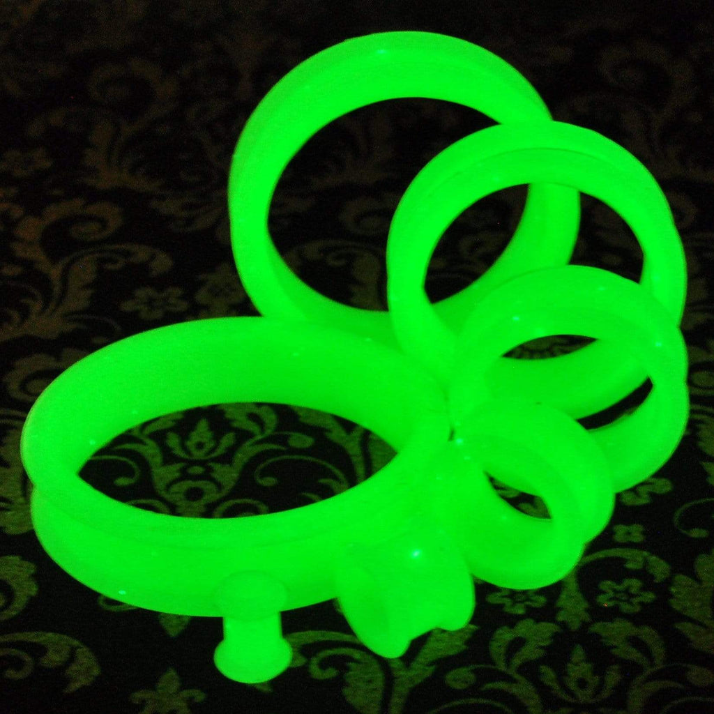 Glow Green Thick Silicone Tunnels