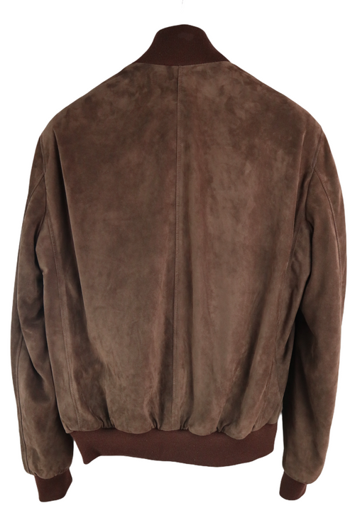 Antigua Chocolate Suede Bomber jacket