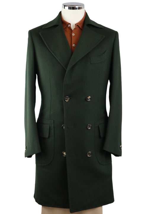 Hope English Green Double Breasted Overcoat