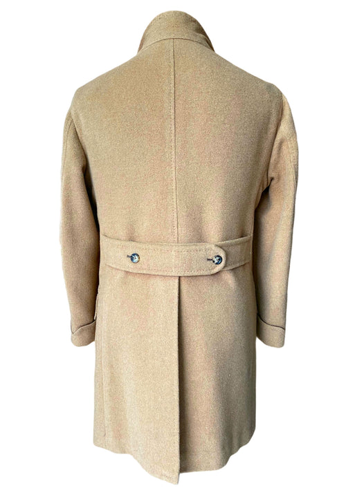 Bactrain Camel Double Breasted Overcoat