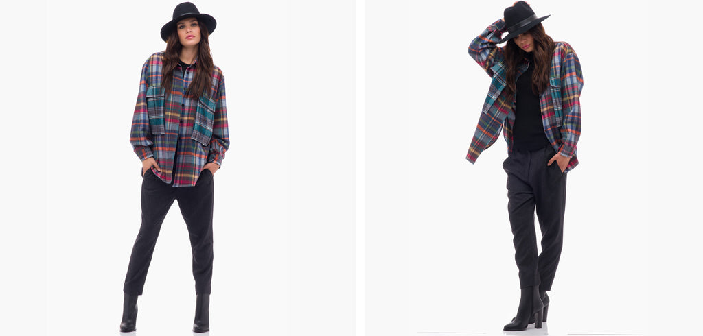 Sibel Saral Plaid Jacket and Winter Trousers