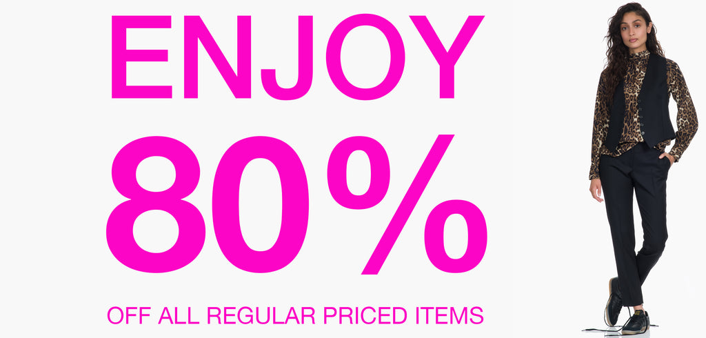 On Now 80 % Off all items