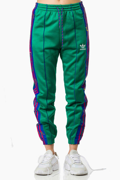 Adidas Track Pants green with flowers