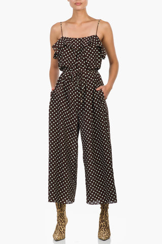 Zimmermann Espionage Silk Frill Jumpsuit