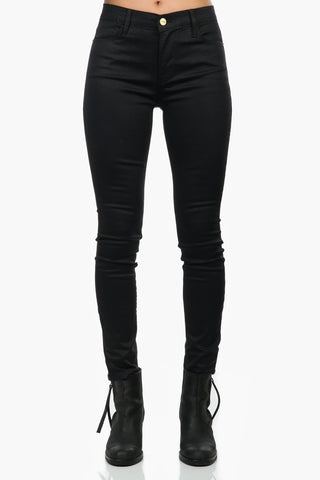 FRAME Le High Skinny Coated Noir