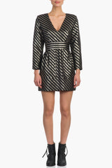 Smythe Deep V Mini Dress