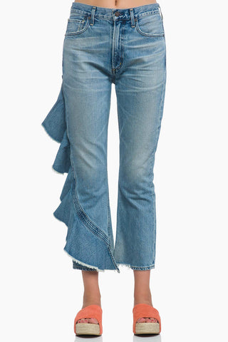 Citizens of Humanity Estella Side Ruffle Denim