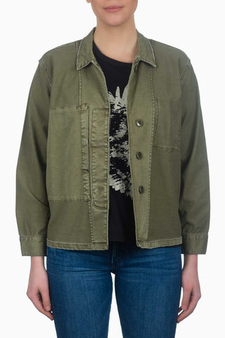 Current/Elliott The Reversed Military Shirt Jacket