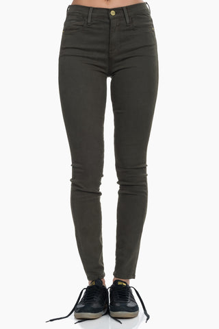 FRAME Le High Skinny Sateen
