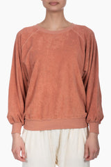 The Great The Micro Terry Bubble Sweatshirt toffee